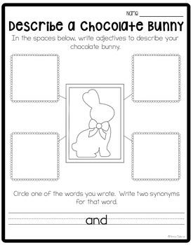 Chocolate Bunny Writing