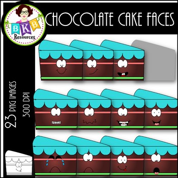 Chocolate Cake Faces ● Clip Art ● Products for TpT Sellers