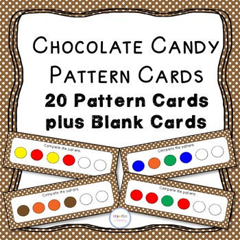 Chocolate Candy Pattern Cards