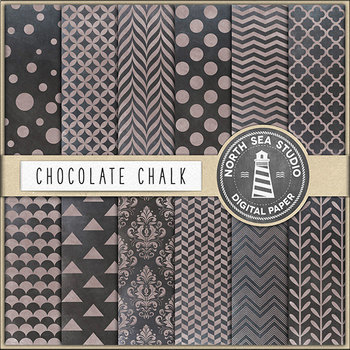 Chocolate Chalkboard Digital Paper {Pretty Graphics}