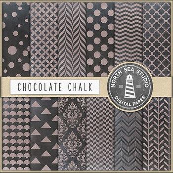 Chalkboard Background, Chocolate Chalkboard Digital Paper