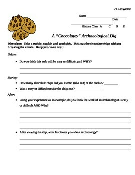 Chocolate Chip Cookie Archaeological Dig