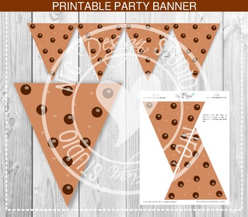 Chocolate Chip Cookie Banner - Party Printable