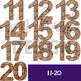 Chocolate Chip Cookie Clip Art -Cookie Numbers {jen hart Clip Art)
