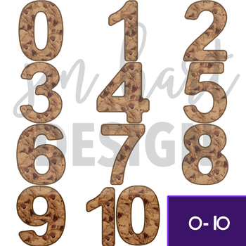 Chocolate Chip Cookie Clip Art -Cookie Numbers {jen hart Clip Art}