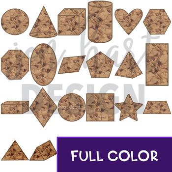 Chocolate Chip Cookie Clip Art -Cookie Shapes {jen hart Clip Art)