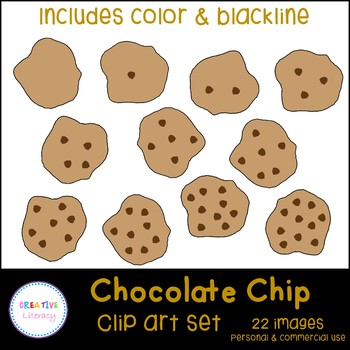 Chocolate Chip Cookie Counting Clip Art