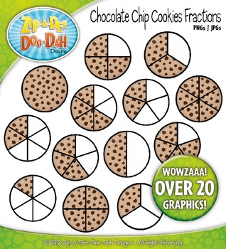 Cookie Fractions Clipart {Zip-A-Dee-Doo-Dah Designs}