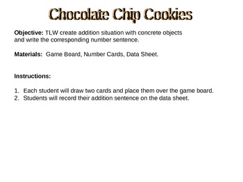 Chocolate Chip Cookie Math - Addition
