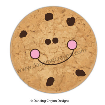 Chocolate Chip Cookies Clip Art:  Choc-Chip Numbers