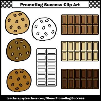 Chocolate Chip Cookies Clip Art, Chocolate Bar Clip Art, Sweets Clipart, SPS