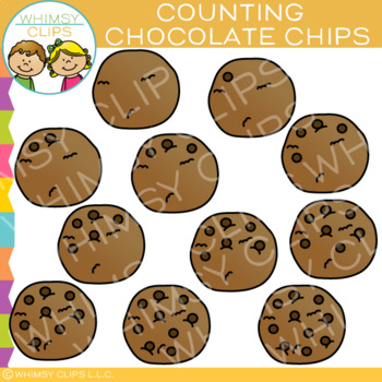 Chocolate Chip Cookies Counting Clip Art