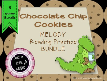 Chocolate Chip Cookies--Interactive Melody Reading 5 Game BUNDLE