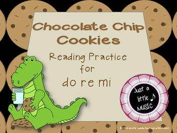Chocolate Chip Cookies--Interactive Melody Reading Game {d