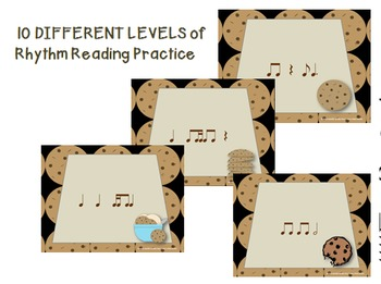Chocolate Chip Cookies--Interactive Rhythm Reading 10 Game BUNDLE