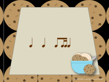 Chocolate Chip Cookies--Rhythm Reading Practice Interactive Game {ti tika}