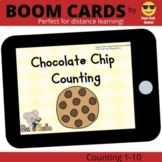 Chocolate Chip Counting Boom Cards (distance learning)