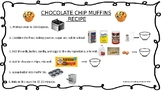 Chocolate Chip Muffins + Comprehension Visual Recipe with