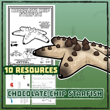 Chocolate Chip Starfish -- 10 Resources -- Coloring Pages, Reading & Activities