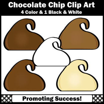 Chocolate Chips Clip Art, Baking Clipart, Cooking Theme Commercial Use SPS