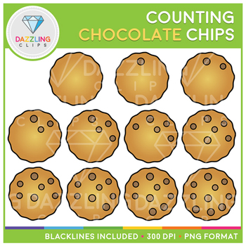Chocolate Chips Counting Clip Art