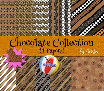 DIGITAL PAPERS- Chocolate Collection! 11 Papers!