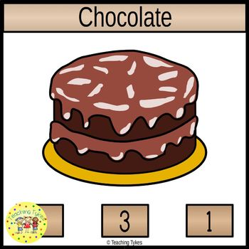 Chocolate Count and Clip Task Cards