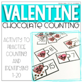 Chocolate Counting Puzzles {Valentine's Day}