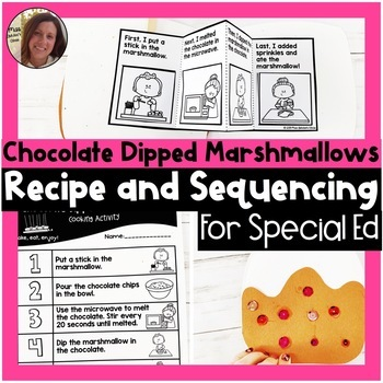 Chocolate Dipped Marshmallow Recipe and Sequencing | Special Education Resource