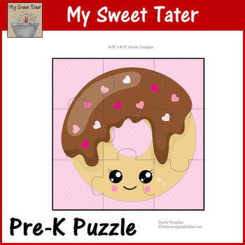 Chocolate Donut Pre-K Puzzle