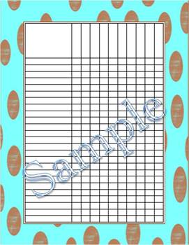 Chocolate Dots With Aqua Incentive Chart/Grade Chart