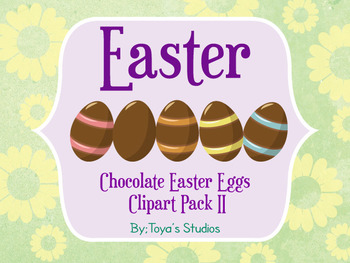 Chocolate Easter Eggs clipart pack II