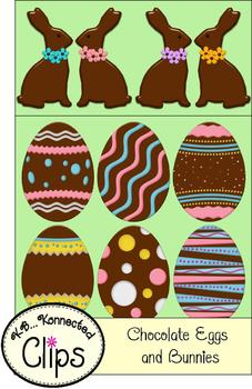 Chocolate Eggs and Bunnies - Commercial use