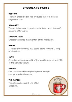 Chocolate Fact Cards