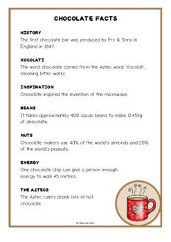 Chocolate Fact Cards