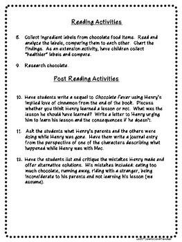 Chocolate Fever 12 Free Activities