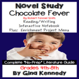 Chocolate Fever Novel Study & Enrichment Project Menu