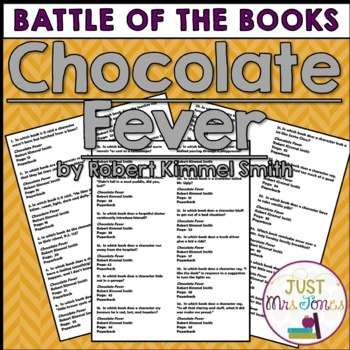Chocolate Fever Battle of the Books Trivia Questions