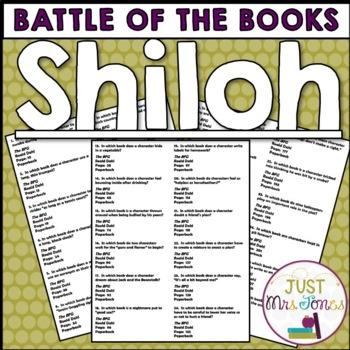 Shiloh Battle of the Books Trivia Questions