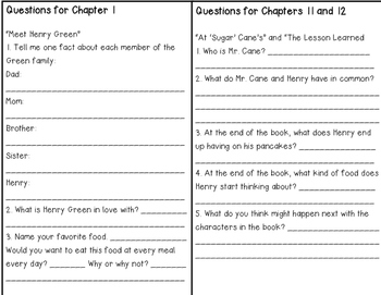 Chocolate Fever Comprehension Booklet