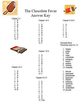 Chocolate Fever Comprehension Set