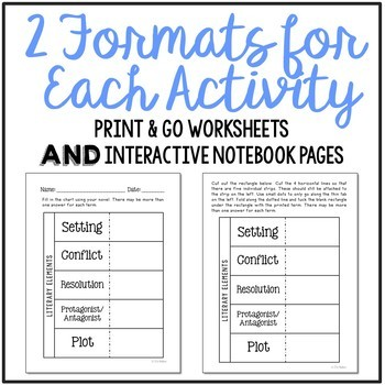 Chocolate Fever Novel Unit Study, Interactive Notebook and Worksheet Formats