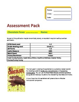 Chocolate Fever Novel Study Pack