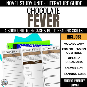 Chocolate Fever Foldable Novel Study Unit
