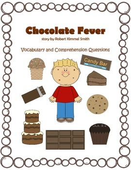 Chocolate Fever Vocabulary Pages and Comprehension Questions