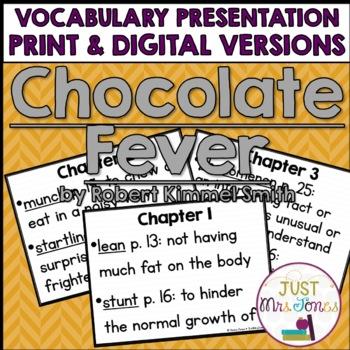 Chocolate Fever Vocabulary Presentation