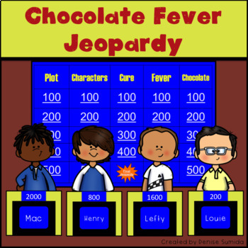 Chocolate Fever by Robert Kimmel Smith Jeopardy