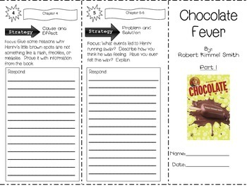Chocolate Fever by Robert Kimmel Smith TWO-PART Trifold