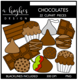Chocolate Clipart {A Hughes Design}
