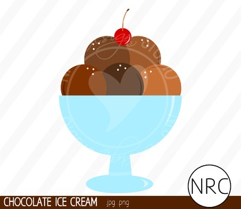 Chocolate Ice Cream Clip Art- Commercial Use Clipart